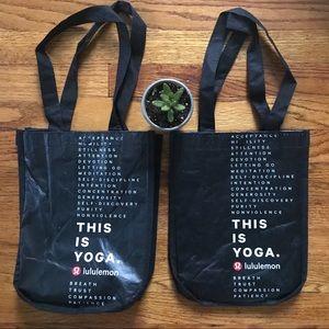 Set of 2 Lululemon Athletics bags!